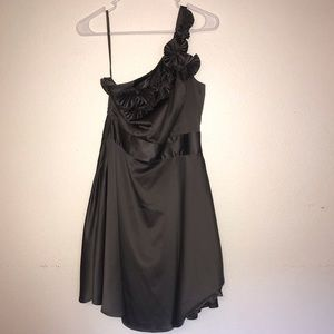 The Limited Gunmetal One Shoulder Party Dress